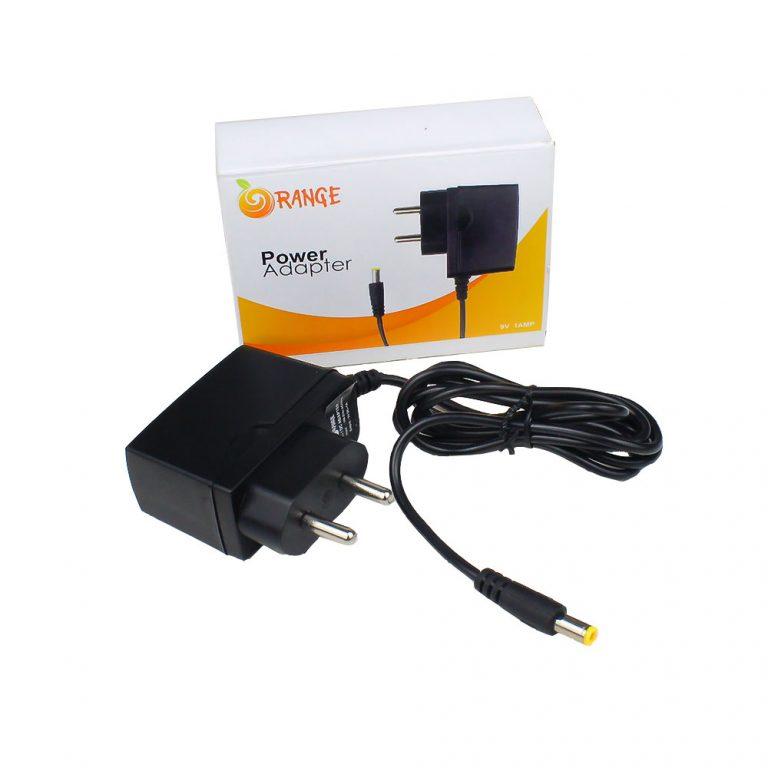 Orange 9V 1A EU Plug Adapter