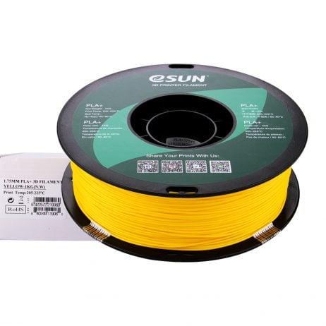 eSun PLA+ 1.75mm 3D Printing Filament 1kg-Yellow