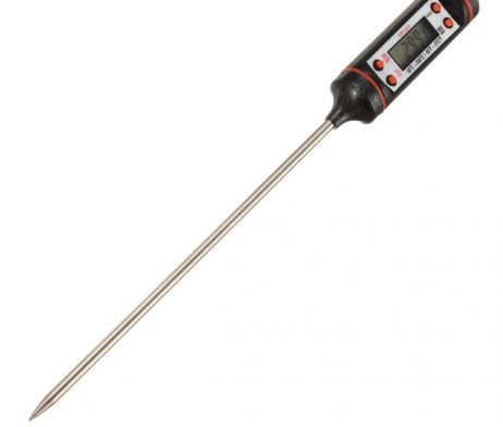 Portable Digital Probe Food Meat Thermometer -ROBU.IN