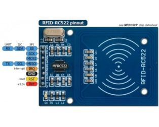 RC522 RFID Card Reader Module 13.56MHz- ROBU.IN