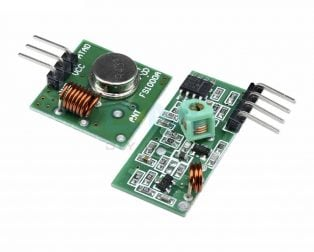RF Transmitter Receiver Module 315MHz Wireless Link Kit For Arduino - ROBU.IN