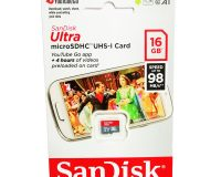 Sandisk Micro SDSDHC 16GB Class 10 Memory Card (Upto 98MBs Speed)