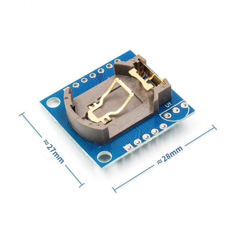 Tiny RTC Real Time Clock DS1307 I2C IIC Module for Arduino- ROBU.IN