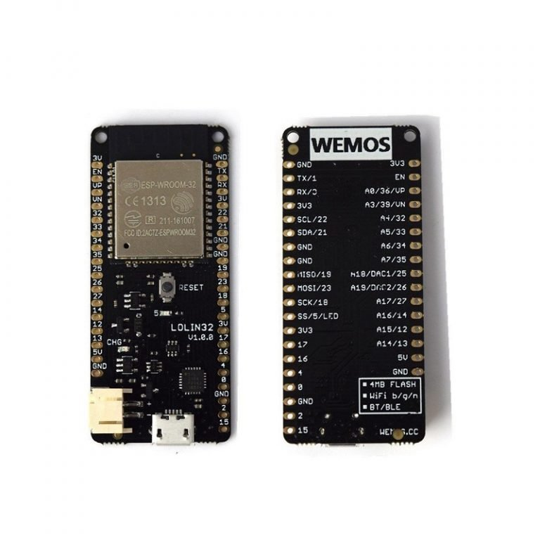 WeMos LOLIN32 V1.0.0 based on ESP32 Rev1 Wifi Bluetooth Board -ROBU.IN