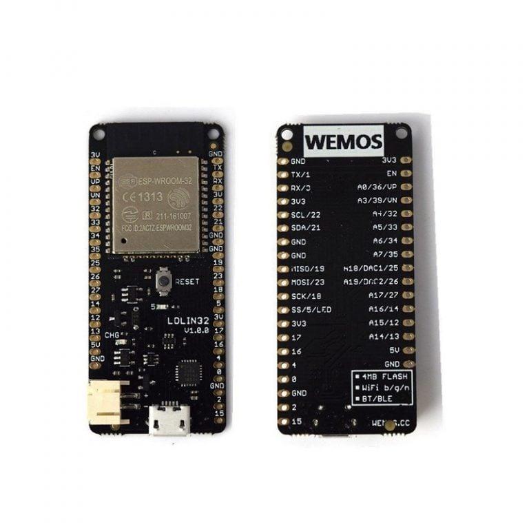 WeMos LOLIN32 V1.0.0 based on ESP32 Rev1 Wifi Bluetooth Board -ROBU.IN