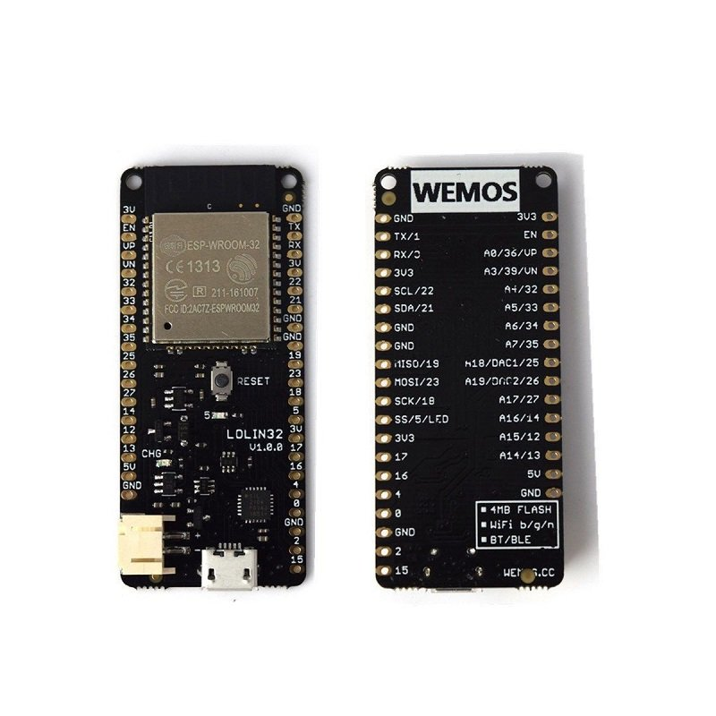 WeMos LOLIN32 V1 0 0 based on ESP32 Rev1 Wifi Bluetooth Board - Robu in |  Indian Online Store | RC Hobby | Robotics