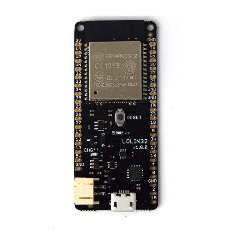 WeMos LOLIN32 V1.0.0 based on ESP32 Rev1 Wifi Bluetooth Board - ROBU.IN