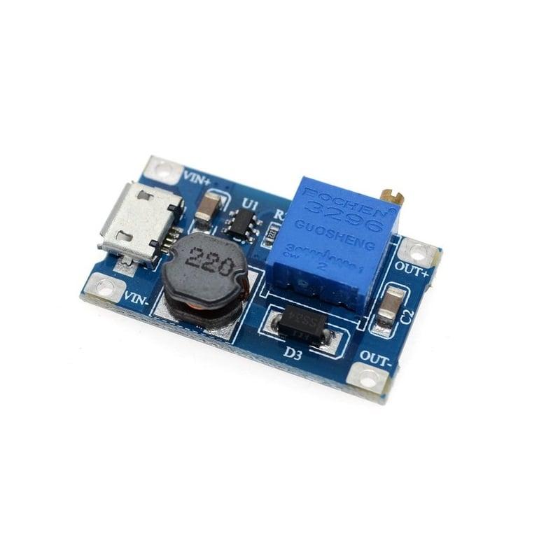 XY-016 2A DC-DC Step Up 5V 9V 12V 28V Power Module with Micro USB -ROBU.IN
