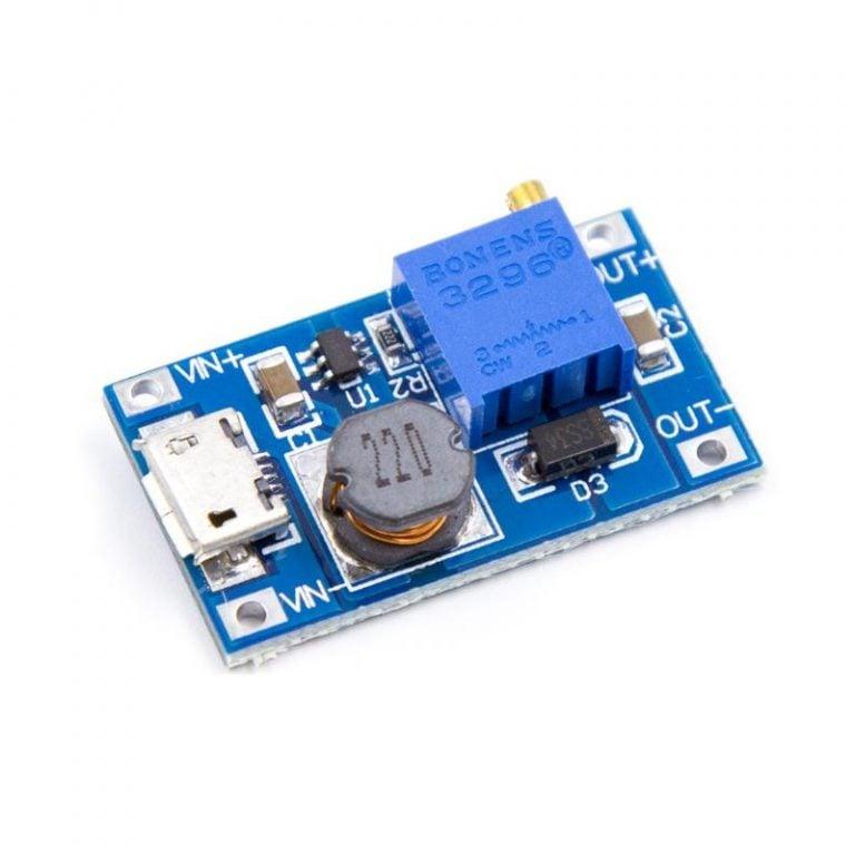 XY-016 2A DC-DC Step Up 5V 9V 12V 28V Power Module with Micro USB - ROBU.IN
