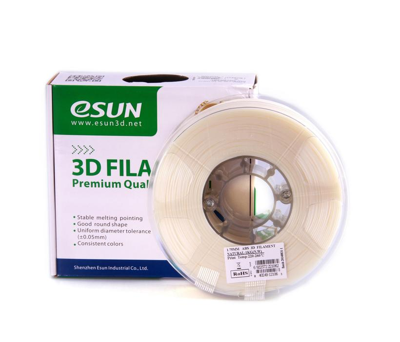 eSun ABS+ 1.75mm 3D Printing Filament 1kg-Natural