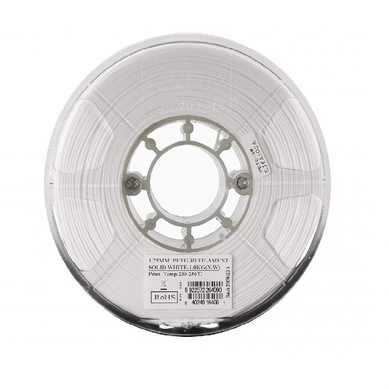 eSun PETG 1.75mm 3D Printing Filament 1kg-Solid White