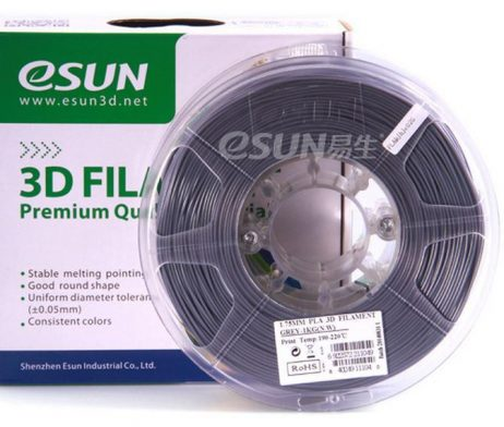 eSun PLA+ 1.75mm 3D Printing Filament 1kg-Grey