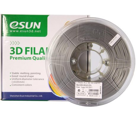 eSun PLA+ 1.75mm 3D Printing Filament 1kg-Silver