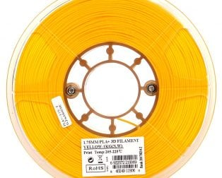 eSun PLA+ 1.75mm 3D Printing Filament 1kg-Yellow