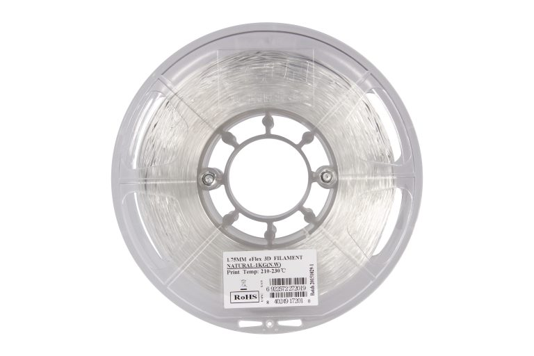 eSun eFlex TPU 87A Flexible Filament 1.75mm-Natural
