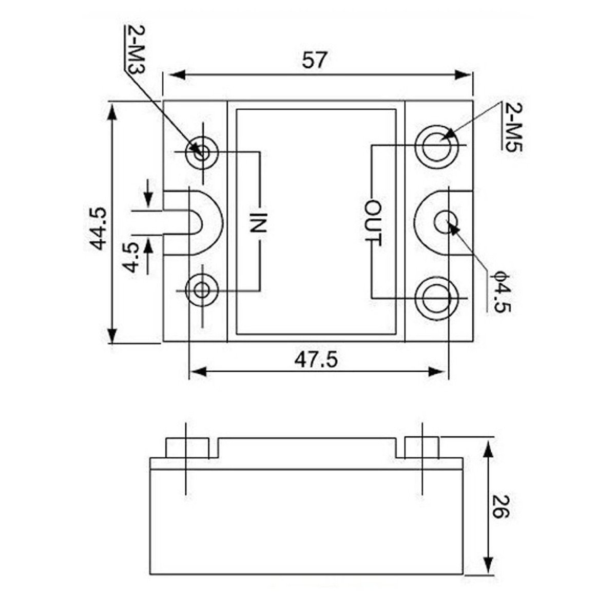 DC To AC SSR-25DA Solid State Relay Module 3-32 VDC /24-380VAC 25A Dc Solid State Relay Schematic Diagram on
