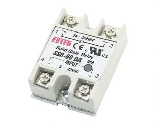 DC To AC SSR-60DA Solid State Relay Module 3-32 VDC 24-380VAC 60A