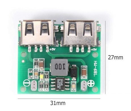 Dual USB Output 9V12V24V to 5V 3A DC-DC Car Charging Voltage- Stabilizer Module