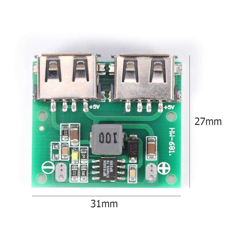 Dual USB Output 9V12V24V to 5V 3A DC-DC Car Charging Voltage- Stabilizer Module