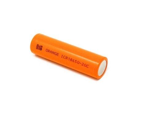 Orange ICR 18650 20C Lithium-Ion Battery ROBU.IN
