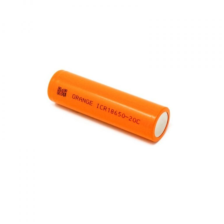 Orange ICR 18650 20C Lithium-Ion Battery ROBU.IN