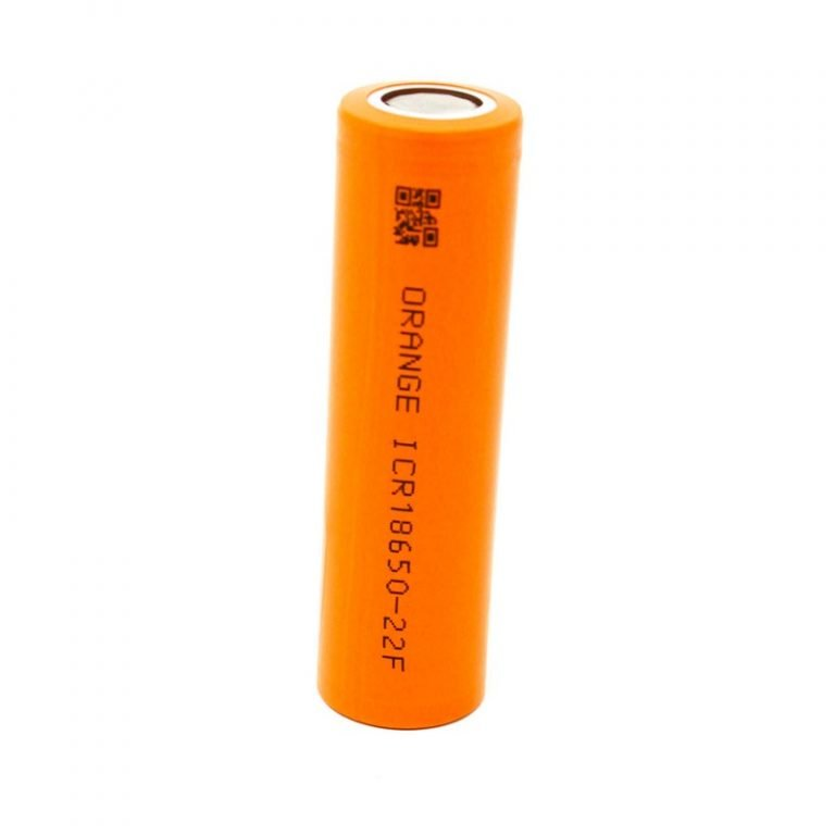 Orange ICR 18650 22F Lithium-Ion Battery -ROBU.IN