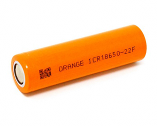 Orange ICR 18650 2200mAh 22F Lithium-Ion Battery
