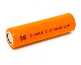 Orange ICR 18650 2200mAh 22F Lithium-Ion Battery