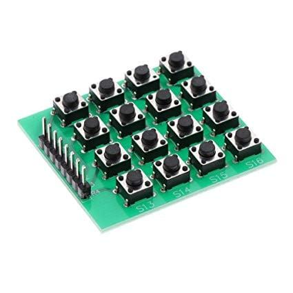 4x4 Matrix 16 Keypad Keyboard Module 16 Button MCU