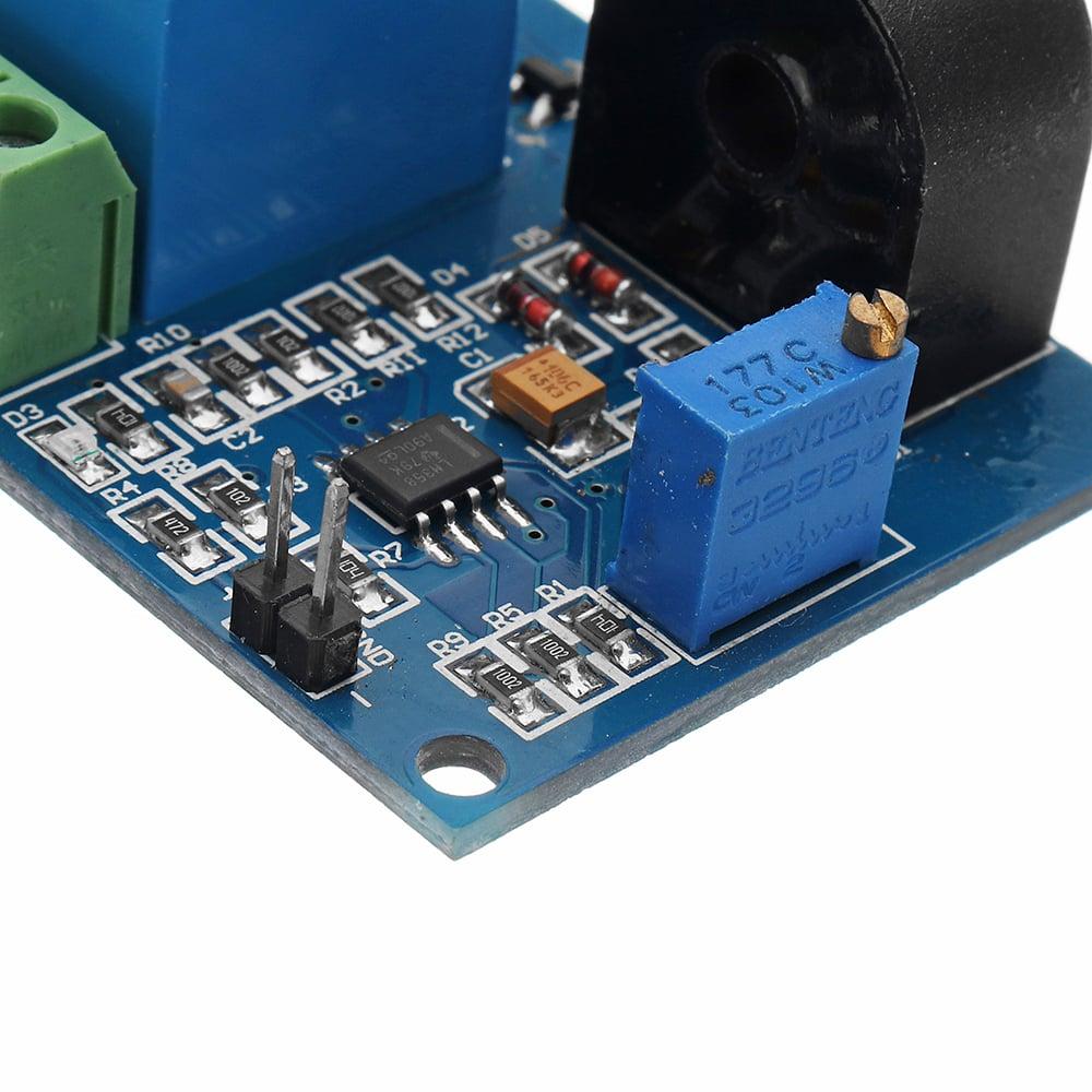 5A 12V Overcurrent Protection Sensor Module AC Current Detection Sensor