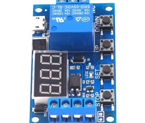 6-30V 1-Channel Delay Power Relay Module with Onboard Adjustable Timing Cycle