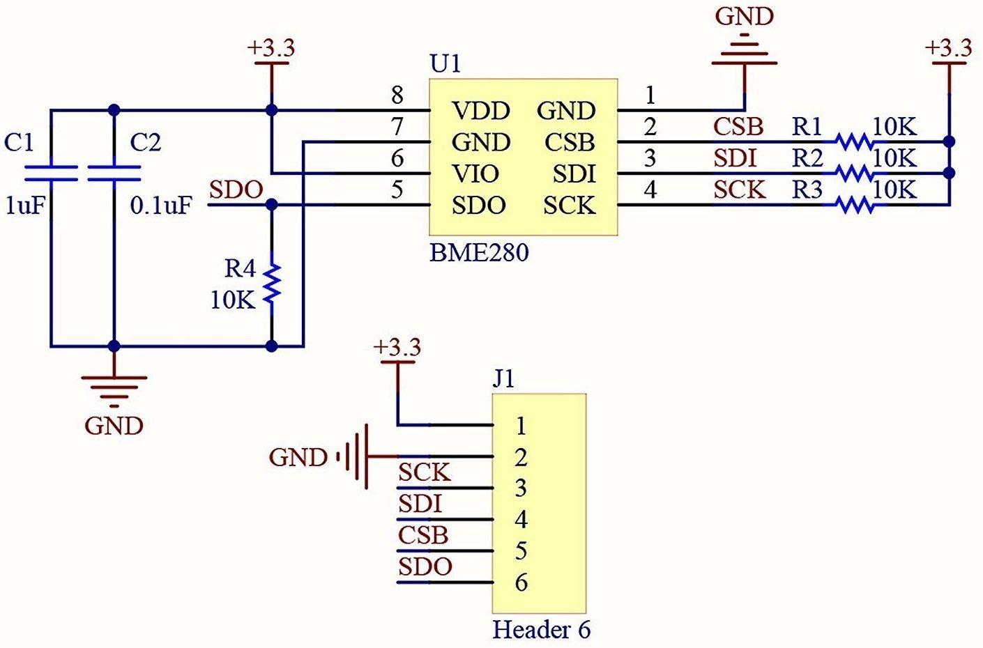 BMP280 Barometric Pressure and Altitude Sensor I2CSPI Module
