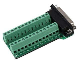 DB25-M2 DB25 to Terminal with Nut
