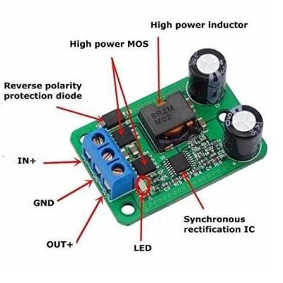 DC-DC Step-Down Buck Converter Power Supply Module 24V 12V 9V to 5V 5A 25W