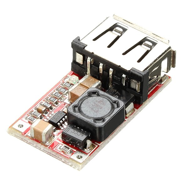 DC to DC 6-24V to 5V USB Output Step Down Power Charger with Adjustable Buck Converter