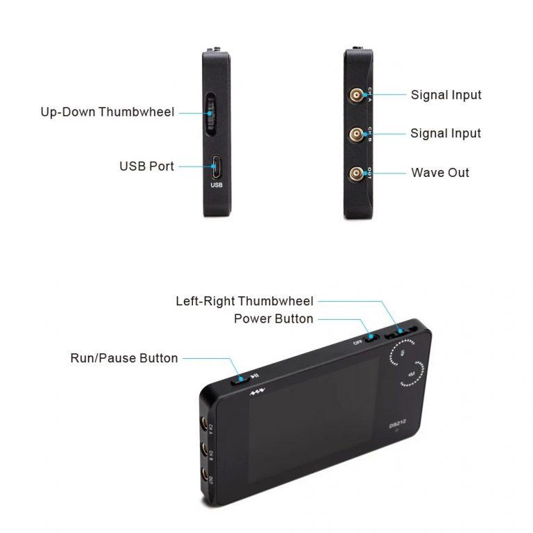 DS212 Mini Pocket Portable Oscilloscope