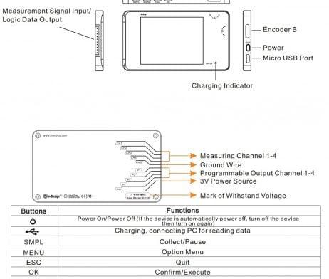 Mini DSO LA104 Digital Logic Analyzer