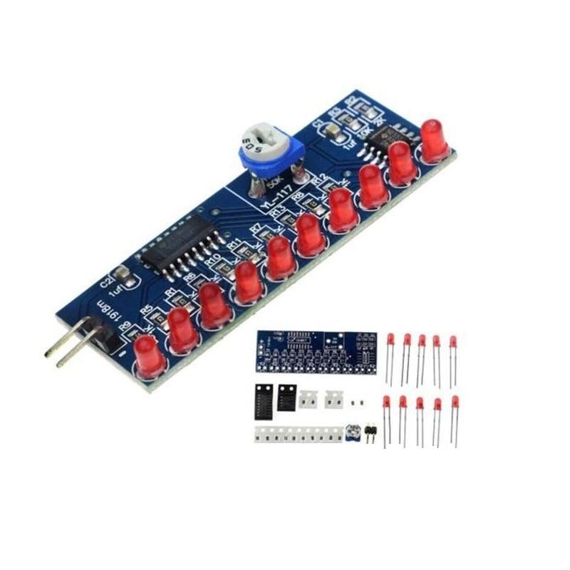 NE555 + CD4017 Water Flowing Light LED Module DIY Kit