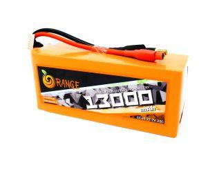 Orange 13000mah 6S 25C50C Lithium Polymer Battery Pack (LiPo)