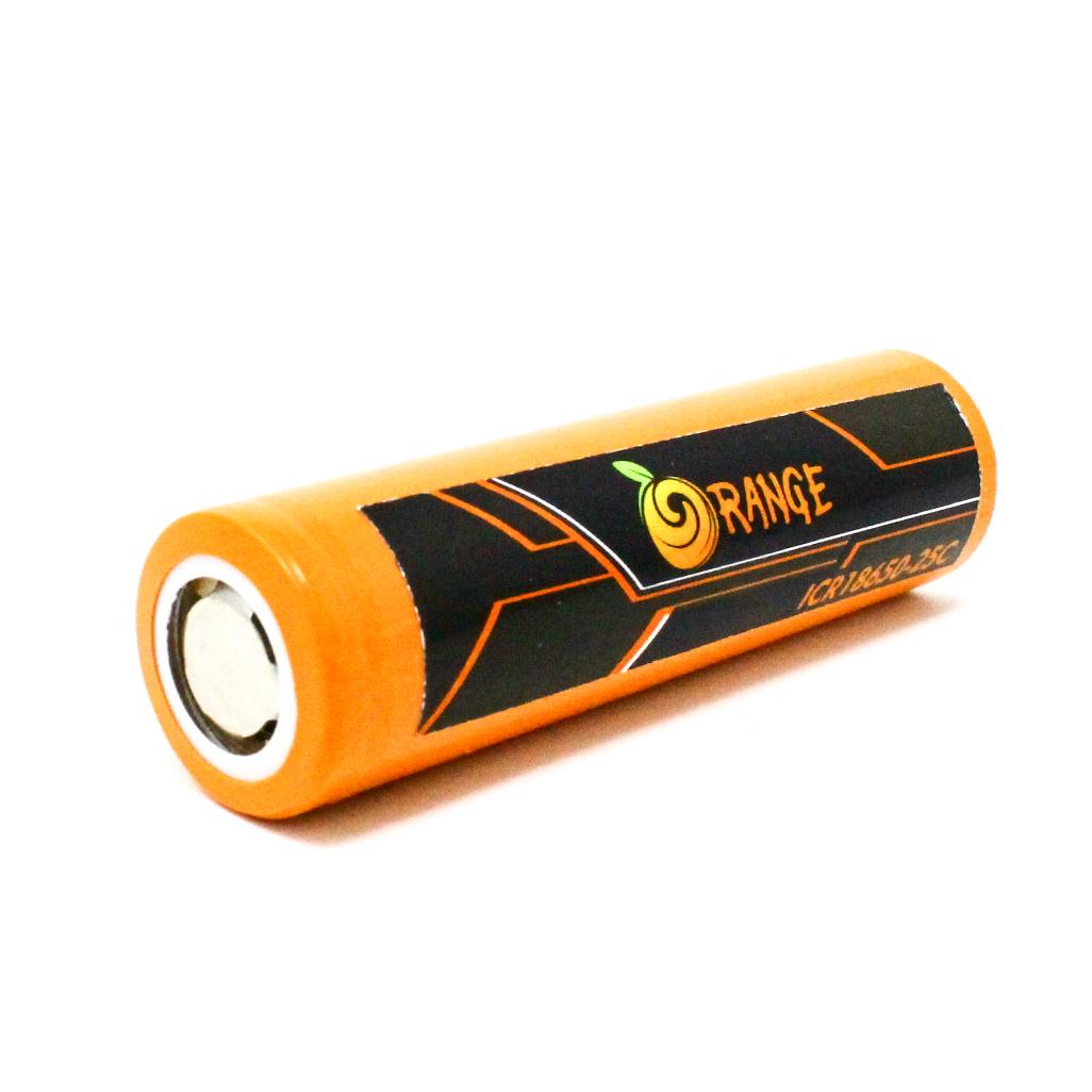 Lithium Ion Battery >> Orange Icr 18650 2500mah Lithium Ion Battery