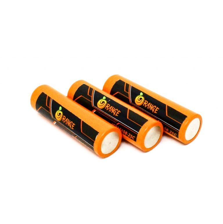 Orange ICR 18650 2500mAh 25C Lithium-Ion Battery