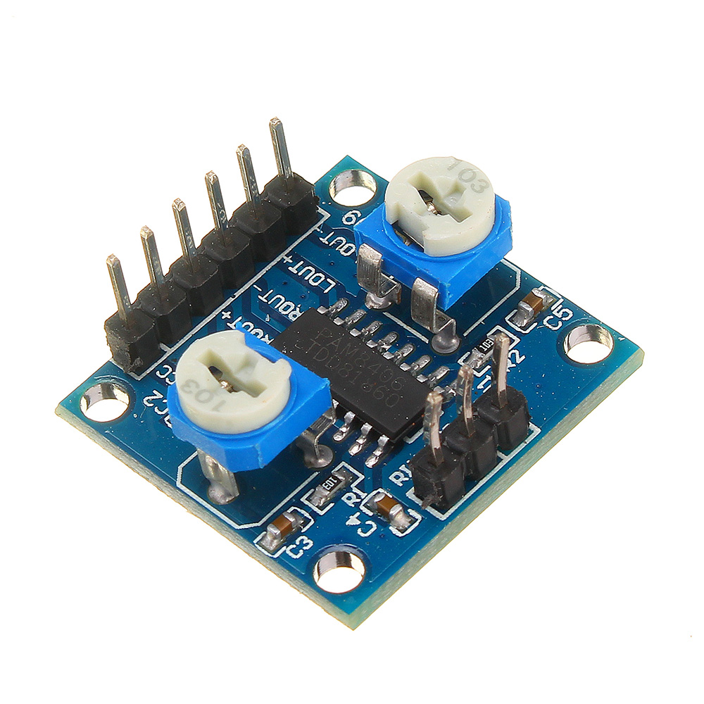 PAM8406 Digital Amplifier Module With Volume Control Potentiometer 5Wx2 Stereo