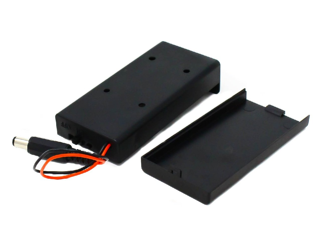 18650 x 2 battery holder with cover and OnOff Switch With DC jack