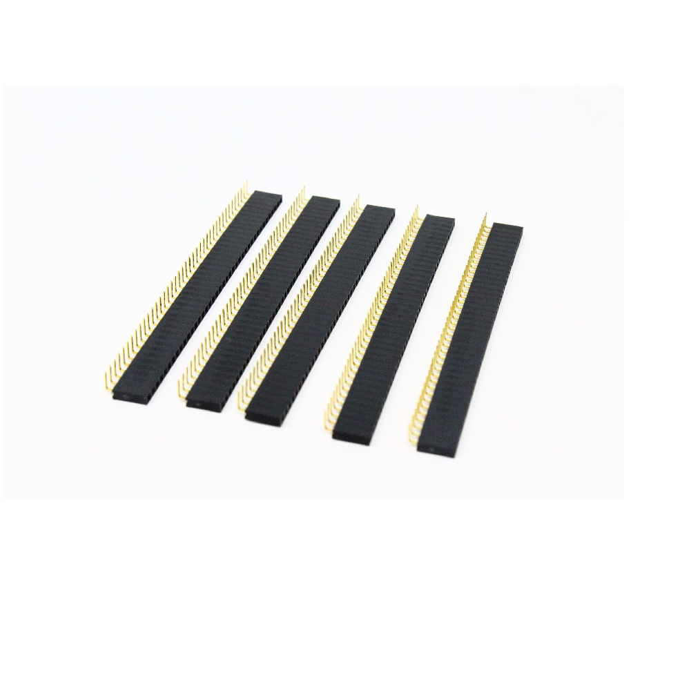 1x40 Berg Strip Right Angle Female Connector