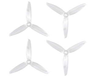 Orange HD 5152(5.1X5.2) Tri Blade Flash Propellers 2CW+2CCW 2 Pair- Transparent (Clear)