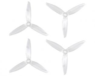 Orange HD 5152(5.1X5.2) Tri Blade Flash Propellers 2CW+2CCW 2 Pair- Transparent (Clear)