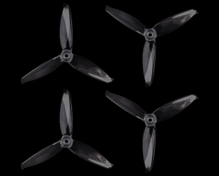Orange HD 5152(51X5.2) Tri Blade Flash Propellers 2CW+2CCW 2 Pair- Transparent (Clear)