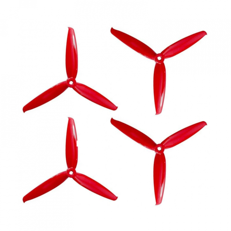 Orange HD 6042(6X4.2) Tri Blade Flash Propellers 2CW+2CCW 2 Pair Ferrari Red
