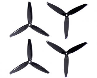 Orange HD 6042(6X4.2) Tri Blade Flash Propellers 2CW+2CCW 2 Pair- Black