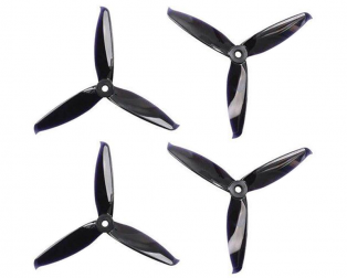 Orange HD 5152(5.1X5.2) Tri Blade Flash Propellers 2CW+2CCW 2 Pair-Black